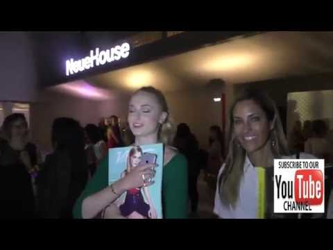 Sophie Turner talks about her fake tattoos outside the Variety's Power Of Young Hollywood at NeueHou