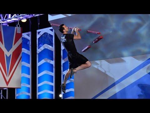 Joe Moravsky at American Ninja Warrior 2015 All Stars Competition Stage 3
