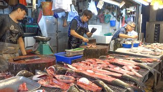 Seafood and Fish in Hong Kong Amazing Wet Markets. World Food and Street Food