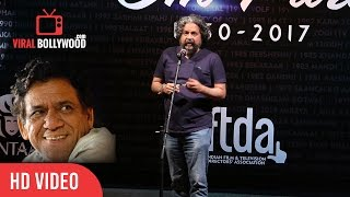 Amole Gupte Speech In The Remembering Of Om Puri | Tribute To Om Puri
