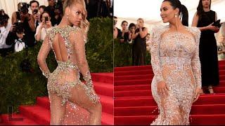 Beyoncé vs. Kim Kardashian: sheer dress battle at Met Gala