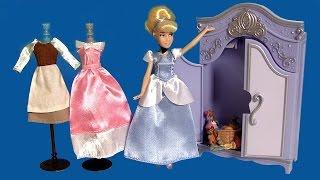 Princess Cinderella Mini Wardrobe Doll PlaySet DisneyStore Royal Closet Unboxing by FunToys