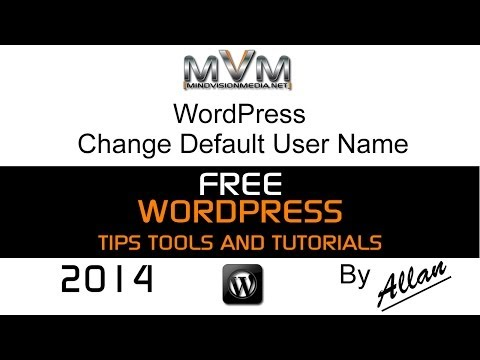 WordPress Change Default User Name