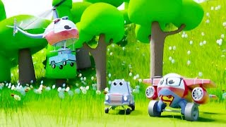 SUPER HELI SAVE BABY CAR | FUNNY CARTOON STORIES
