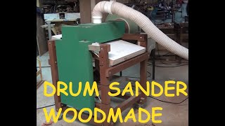 Drum and Disk Sander Homemade - wood machine - Thickness Sander