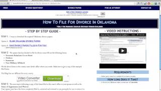 Free Oklahoma Divorce Papers and Forms
