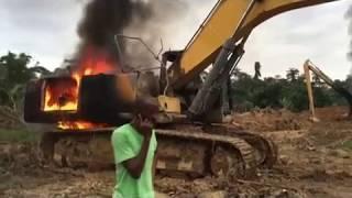 Galamsey Equipments Burnt on JoyNews (8-8-17)