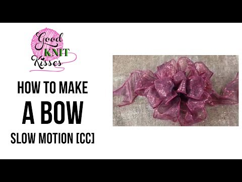 How to Make a Bow step by step 1 video SLOW with CC Crafts