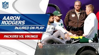 Aaron Rodgers Injured After Taking a Hit from Anthony Barr | Packers vs. Vikings | NFL Wk 6