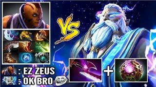 EPIC Pro Carry Zeus vs Hard Anti-Mage Late Game Battle Silver Edge Build vs Counter Pick WTF Dota 2