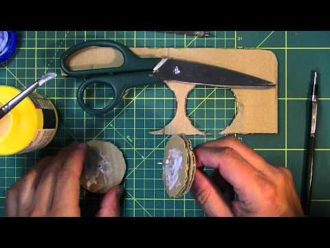 Cómo hacer engranajes con cartón ondulado.