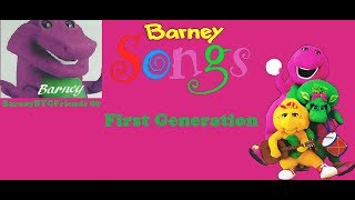 Barney First Generation Songs (Versions Mixed & Pitched Down)