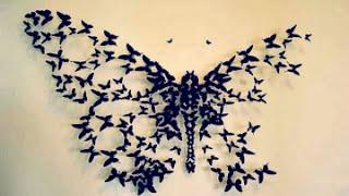 DIY: Butterflies Wall Decor   Wall Decor IDea   How to cut paper butterflies   DIY With DianaTA