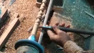 Indian Wooden Handicrafts   Craftsman artistic creation Mumbai India 2016
