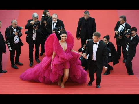 Xxx Mp4 Deepika Padukone At Cannes 2018 Stunning In Red Ashi Studio Couture 3gp Sex