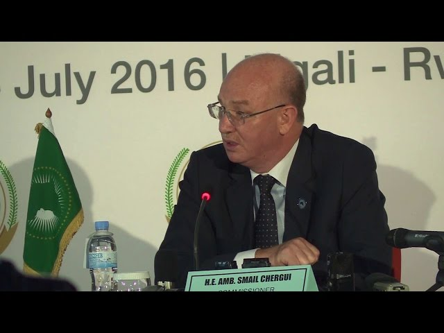 Rwanda AMB: ISMAIL SHERGUI, AU Commissioner for peace and security