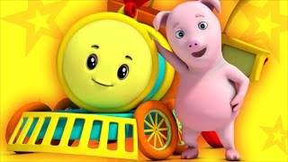 rig a jig jig | nursery rhyme | farmees | kids songs | 3d rhymes | kids trains by Farmees S01E87