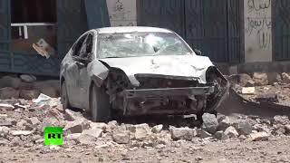 Dozens killed as Saudi-led coalition strike hits hotel near Sanaa, Yemen