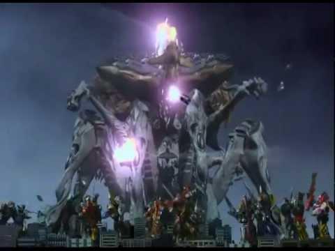 Guerra legendaria y batalla de zords Versión Power Rangers