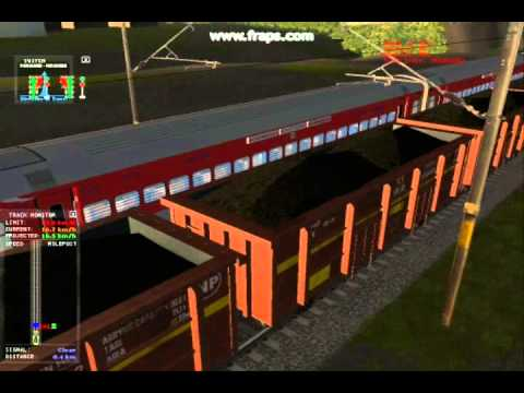Xxx Mp4 MSTS Indian Railways Poorva Express WAP 7 Crosses Freight Train Simulator 3gp Sex