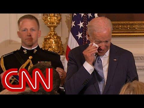 Obama s surprise brings Joe Biden to tears Full speech