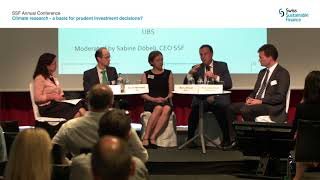 Panel Discussion: Climate research - a basis for prudent investment decisions?