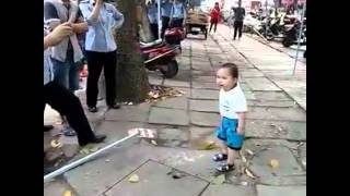 toddler who picked up steel pipe to defend his grandma