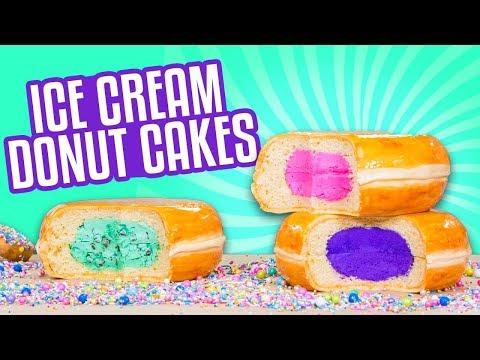 3 Flavors Ice Cream Donut CAKES How To Cake It