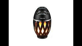 NULED Atmosphere Bluetooth Speaker with LED Flame Lights - Available on Amazon