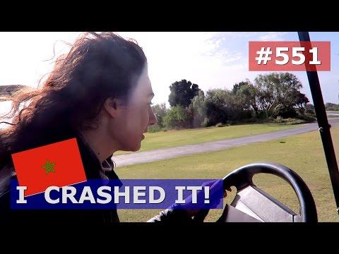 MOROCCO ESSAOUIRA CRASHED A GOLF CART DAY 551 TRAVEL VLOG IV