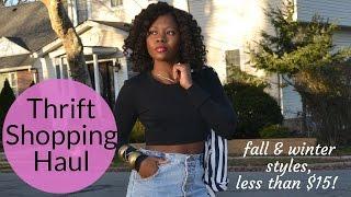 Fall/Winter Thrift Shopping Haul - Denim Trends, Outerwear & Accessories