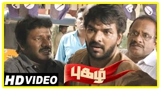 Pugazh Tamil Movie | Scenes | Jai Attacked | Surabhi Proposes | Marimuthu warns Jai