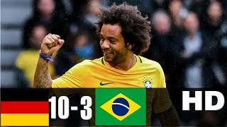 Germany vs Brazil 10-3 - All Goals & Highlights    HD