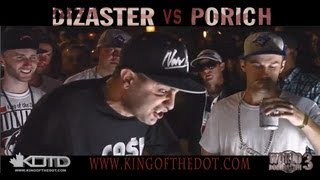 KOTD - Rap Battle - poRICH vs Dizaster (Title Match) | #WD3