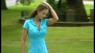 Veronika Zemanova goes for a stroll