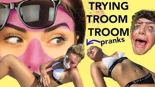 Trying Troom Troom's AWFUL Pranks! *Beach Prank Wars*