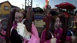 Girl passes out on the slingshot