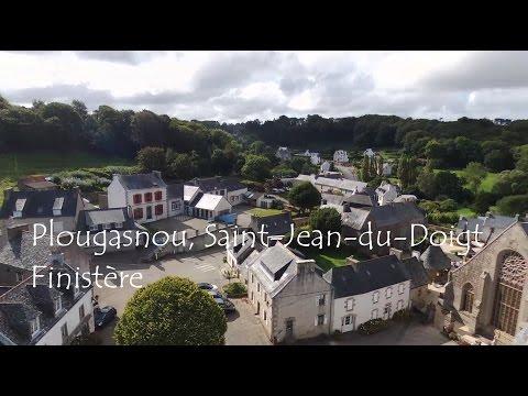 Plougasnou Saint Jean du Doigt vue du ciel Finistère