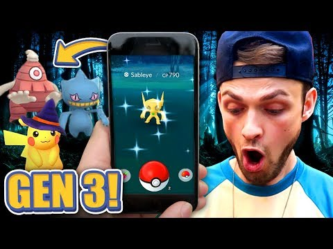 GEN 3 SHINY POKEMON HUNT! ✨ - Pokemon GO Halloween Event 🎃 (NEW Pokemon)