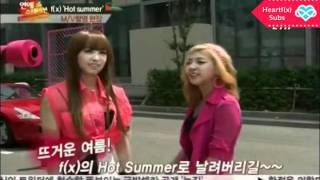 [HeartfxSubs] 110623 - f(x) - ETN News - Hot Summer MV Shooting [ENG]