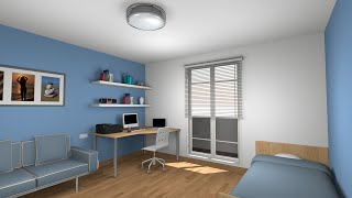 Sweet home 3D tutorial: Design and render a  bedroom - Part 1