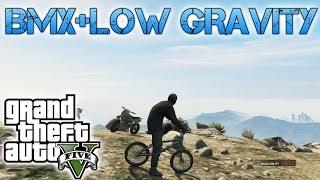 Grand Theft Auto V   BMX & MOON GRAVITY   I BELIEVE I CAN FLY!!