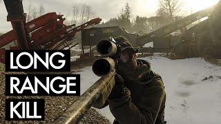 Long Range Kill - Airsoft Sniper Gameplay - Gravelpit