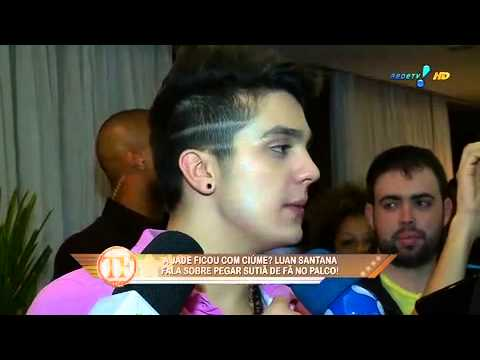 TV Fama Luan Santana se declara e beija Jade em entrevista