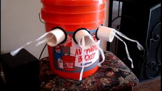 How To Make A 5 Gallon Bucket Air Conditioner Without Glue Or Tape