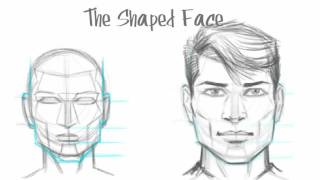 How to Draw the Male Face - Basic Drawing Tutorial (The Shaped Face)