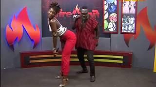 Ebony dances with Countryman Songo - Fire 4 Fire on Adom TV (20-11-17)