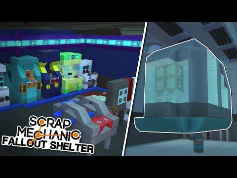 ARCADE SECRETS Scrap Mechanic Fallout Shelter Project Ep.17