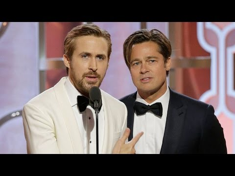 Ryan Gosling Doesn t Like Playing Second Fiddle to Brad Pitt At The Golden Globes