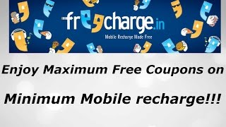 Enjoy Maximum Free Coupons on Minimum Recharge!!!